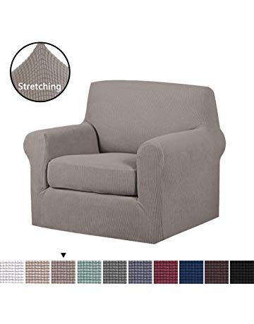 H.VERSAILTEX 2-Piece Soft Spandex Jacquard Sofa Slipcover Furniture  Cover/Protector,