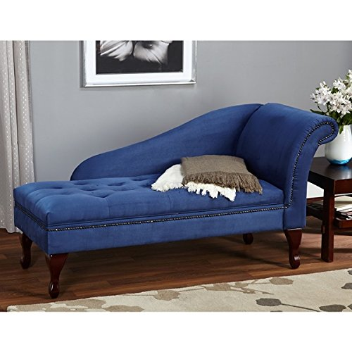 Traveller Location: Blue Chaise Storage Lounge Chair Sofa Loveseat for Living Room  or Bedroom: Kitchen & Dining