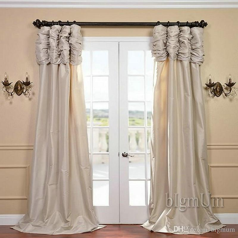 Luxury Valance And Curtain Panel Solid Beige/Coffee/Green/Burgundy/Silvery  Window Treatment Ready Made Custom Made Curtains From Bigmum, $31.55 |  Traveller Location