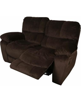 Porter Ramsey Cocoa Brown Microfiber Dual Reclining Loveseat, Porter  International Designs