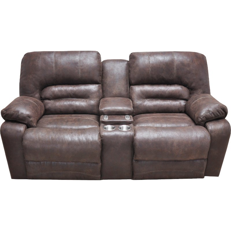 Chocolate Brown Microfiber Power Reclining Loveseat - Legacy | RC Willey  Furniture Store