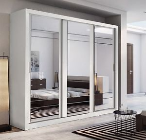 Image is loading Brand-New-Modern-Bedroom-3-Sliding-Door-Mirror-