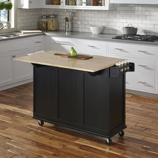Kuhnhenn Kitchen Cart with Wood Top