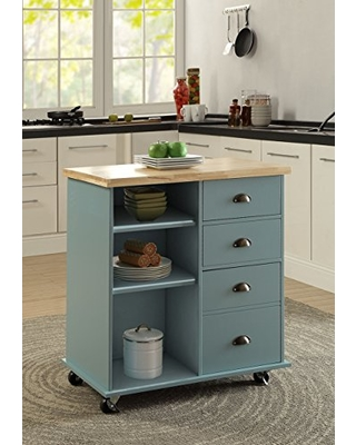LIFE Home Home Life fur_nutrend_1020681blue 1020681-a1 Kitchen Cart