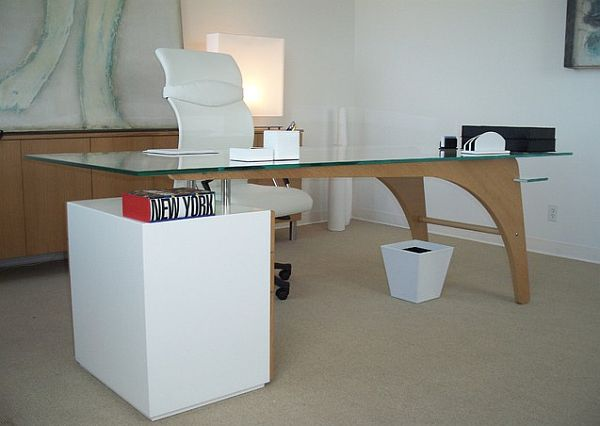 Fantastic Writing Desk Ideas Present Comfortable Furniture to Work : Modern  Desk And Credenza