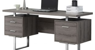 Call to Order · Harley Modern Dark Taupe Desk with Storage Pedestals