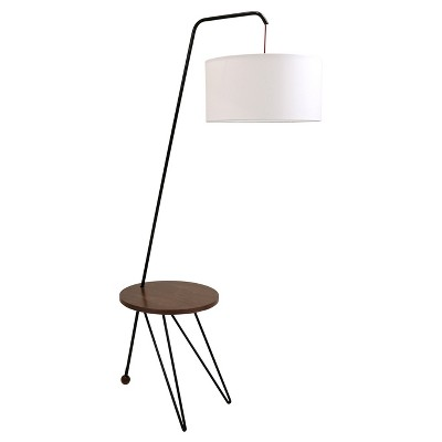 Stork Mid Century Modern Floor Lamp With Walnut Table Accent (Lamp Only) -  Lumisource : Target