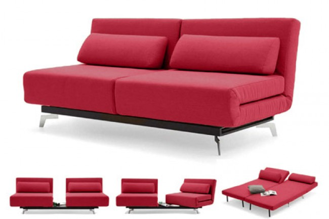 Apollo_Modern_Convertible_Futon_Sofabed_Sleeper_Red