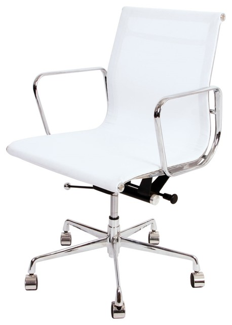 Aluminum Mid Back Mesh Management Office Chair - Modern - Office Chairs -  by Modern Selections