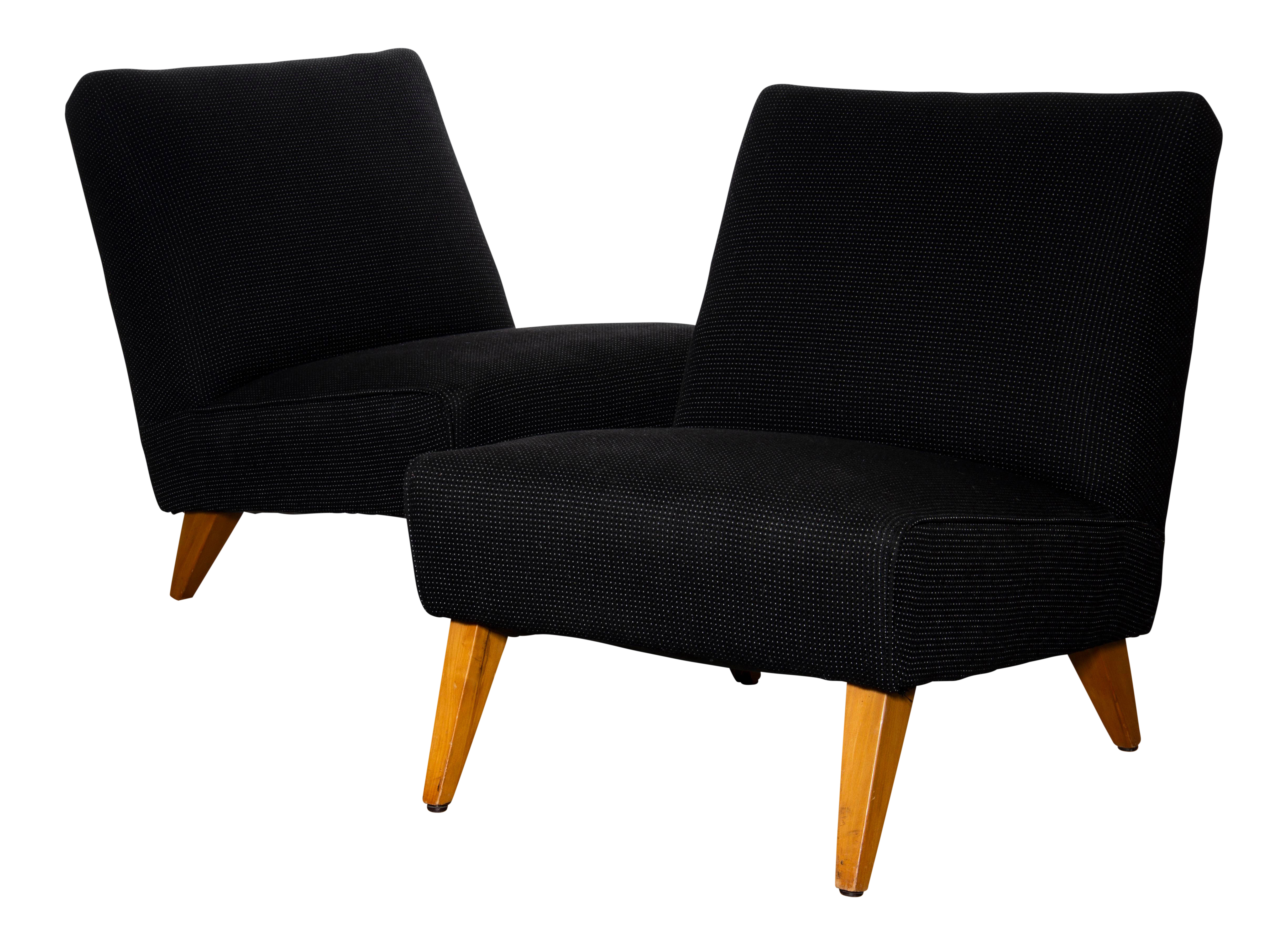 Modern Oversized Slipper Chairs- A Pair For Sale