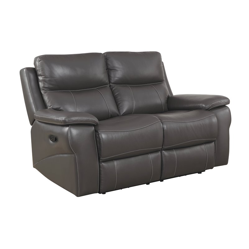 Furniture of America Soron Modern Reclining Loveseat in Gray - IDF-6540-LV
