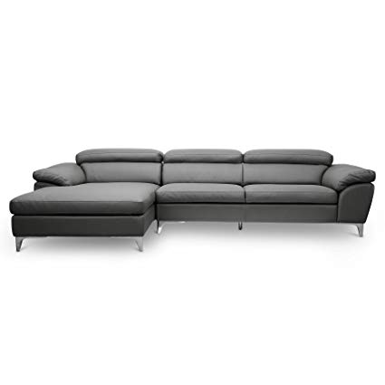 Amazon.com: Baxton Studio Voight Modern Sectional Sofa, Gray