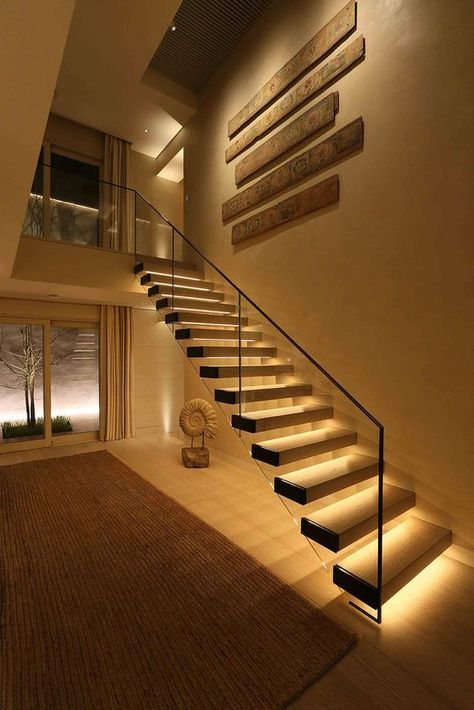 17 TOP Stairway Lighting Ideas, Spectacular With Modern Interiors