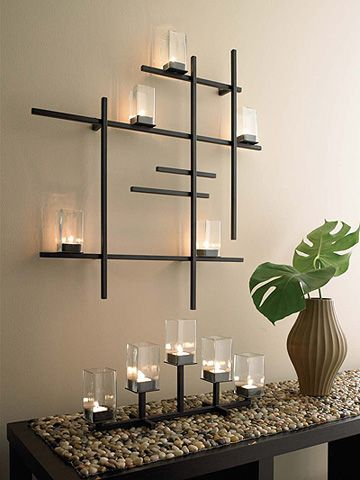images candel sconces | Modern Grid Candle Sconce | Apartment Therapy