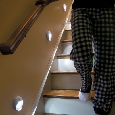 Wireless LED Stair Lights | When you get within 6 feet of the first
