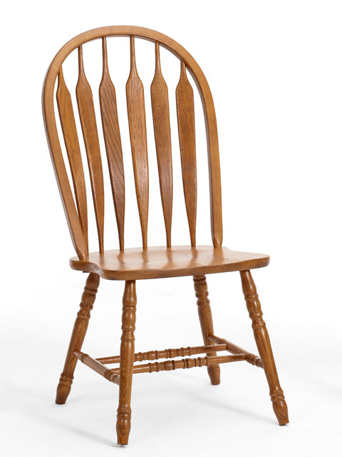 Picture of Classic Oak Chestnut Curved Arrowback Chairs