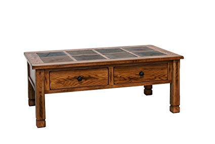Sunny Designs Sedona Slate Coffee Table in Rustic Oak