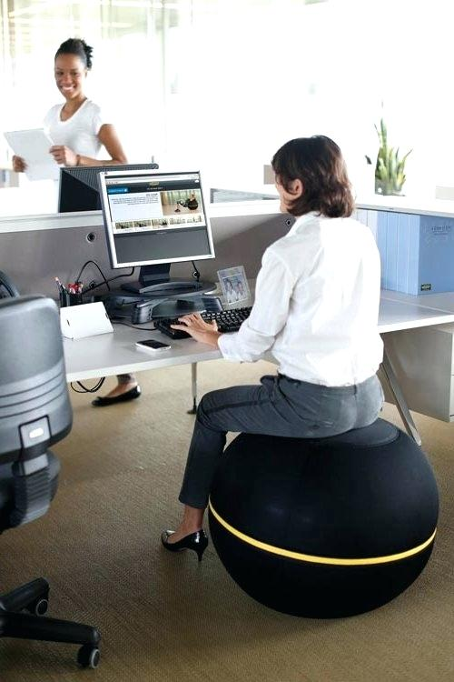 ball chair for office yoga ball office chair reviews