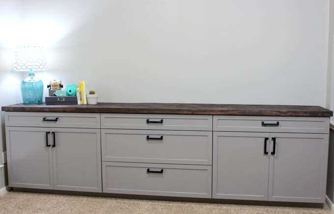 Building Office Cabinets | Gray House Studio