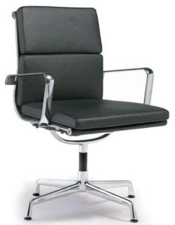 Director Padded Stationary Office Chair, Black