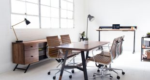 Harkavy Furniture Creates Modern Walnut & Steel Office Furniture