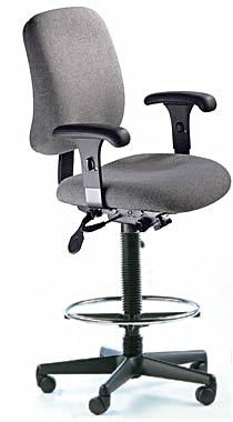 | Office Chairs | ESD Chairs | ESD High Back Drafting Chair, Lumbar, Seat  Depth