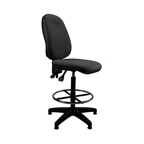HIGH BACK BLACK DRAUGHTSMAN OFFICE HIGH COUNTER CHAIR