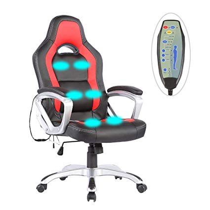 Amazon.com: Mecor Office Massage Chair Computer chair , PU Race Car