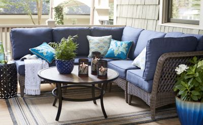 Bellmare patio set. $760 to $1,798. Available in conversation sets only.