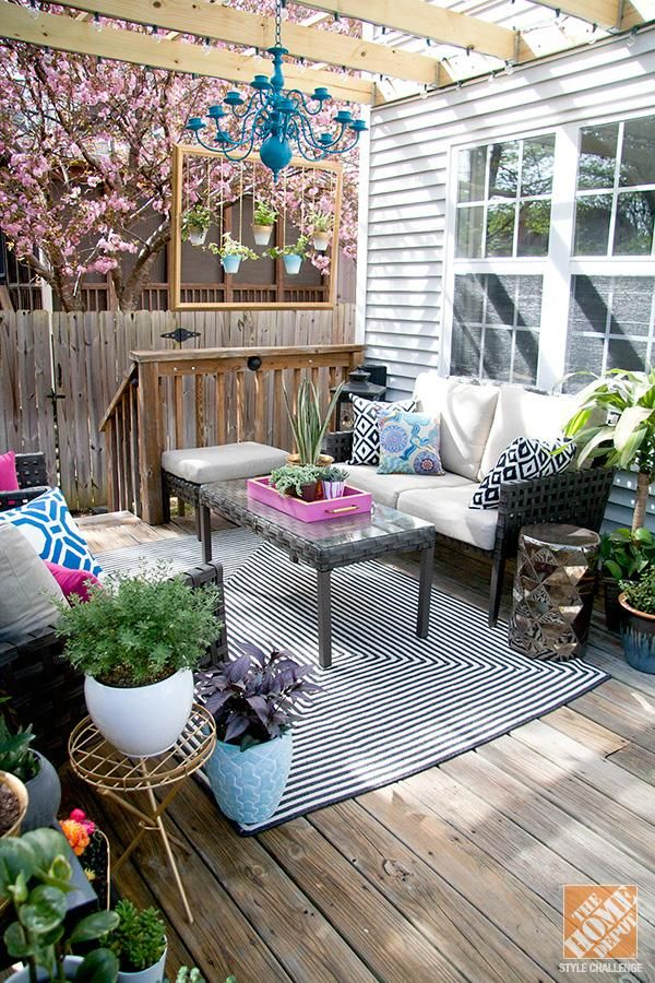 Transform your patio or deck into a fresh and comfortable outdoor living  room with these outdoor decorating ideas from @Stephanie Fisher.