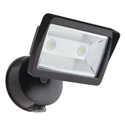 Bronze Outdoor Integrated LED Wall Mount Flood Light with Dusk to Dawn  Photocell