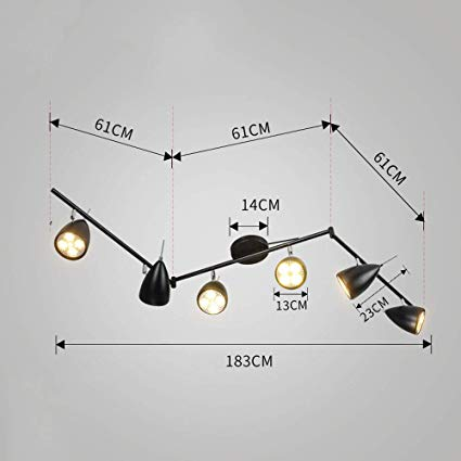 Amazon.com : JU FU Track Light - 6-Light Adjustable LED Track