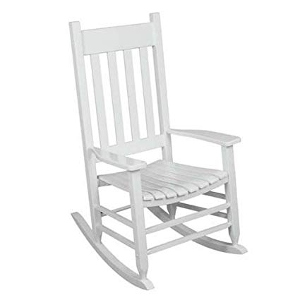 Outdoor Rocking Chair White The Solid Hardwood Chairs Provide Comfortable  Seating on Patio or Deck.