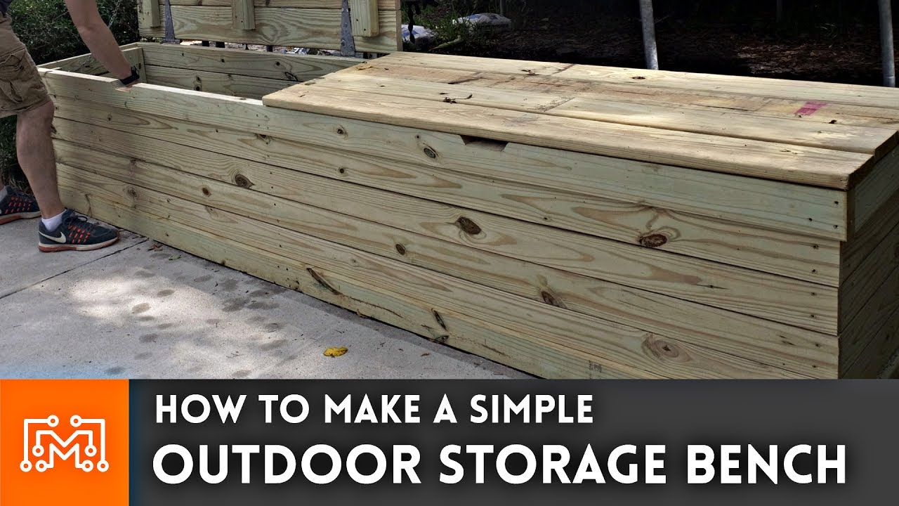 Outdoor Storage Bench // Woodworking How To