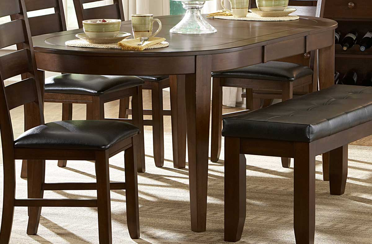 Homelegance Ameillia Oval Dining Table 586-76 |  Traveller Location