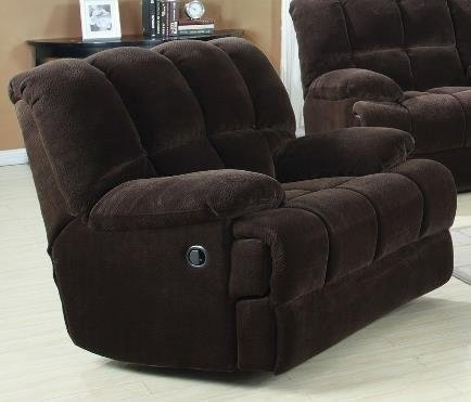 Ahearn Rocker Recliner, Chocolate Champion by Acme Furniture