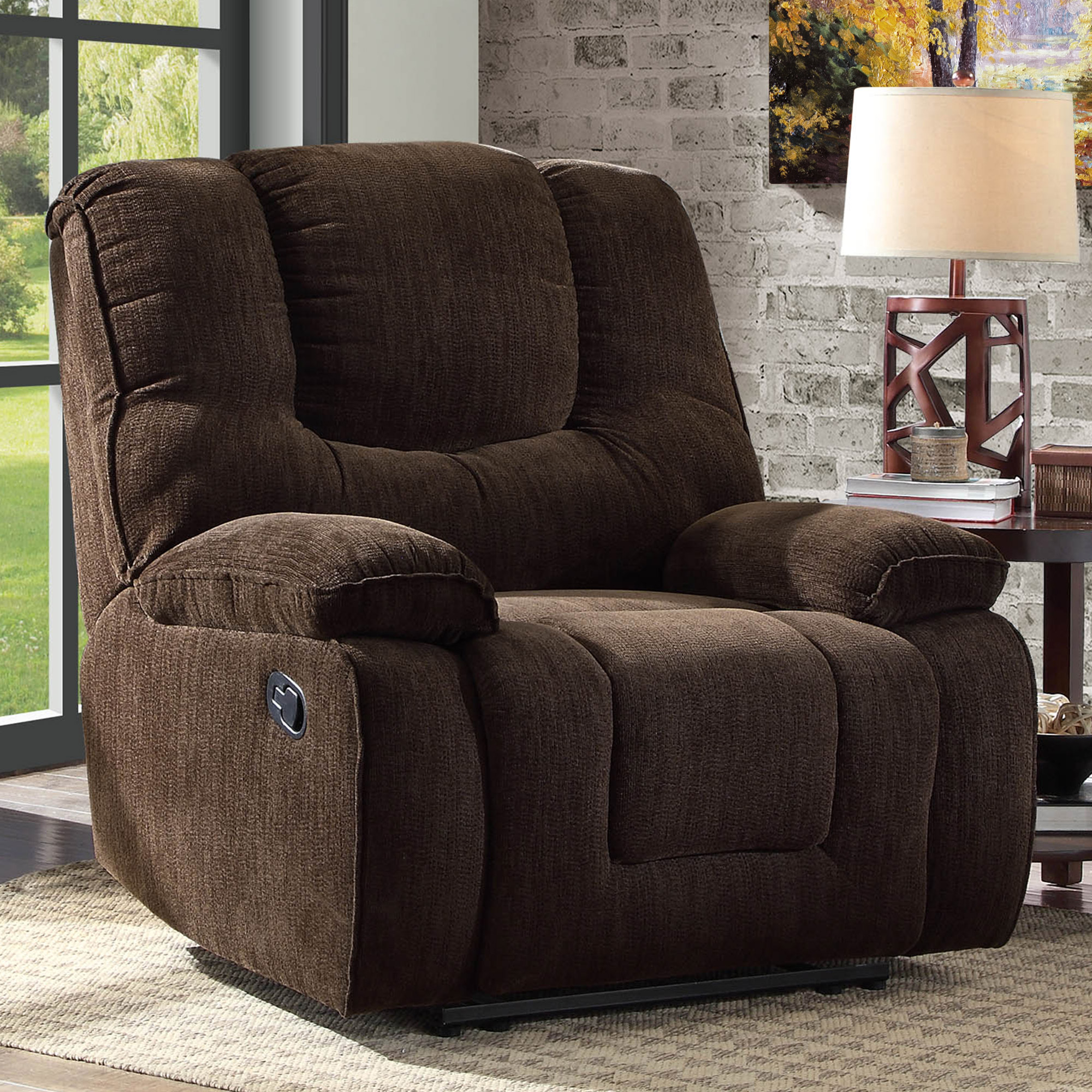 Product Image Better Homes and Gardens Big & Tall Recliner with In-Arm  Storage and USB,
