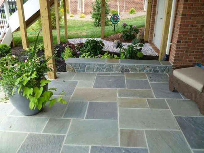 Nice slate tile patio | Outdoor Living | Patio tiles, Outside flooring,  Patio flooring