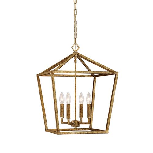Millennium Lighting Vintage Gold 16 Inch Four Light Pendant 3244 Vg