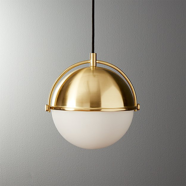 Globe Small Brass Pendant Light + Reviews | CB2