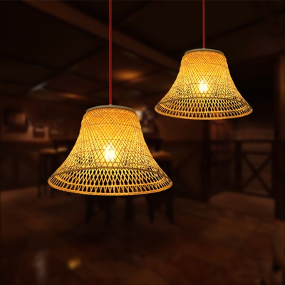 modern bamboo pendant light shades America country cage bird nest