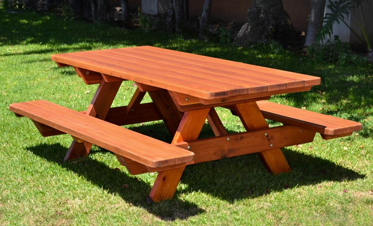 Wood picnic table rentals in the Hudson Valley