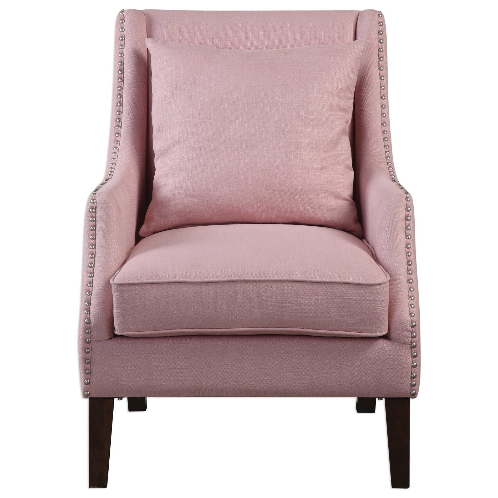 Accent Furniture - Accent Chairs Arieat Pink Armchair by Uttermost