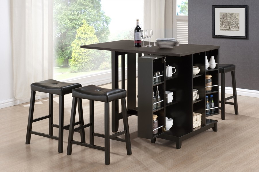 admirable pub tables and saddle stools consisting a lot of storage  decorated in modern home ideas