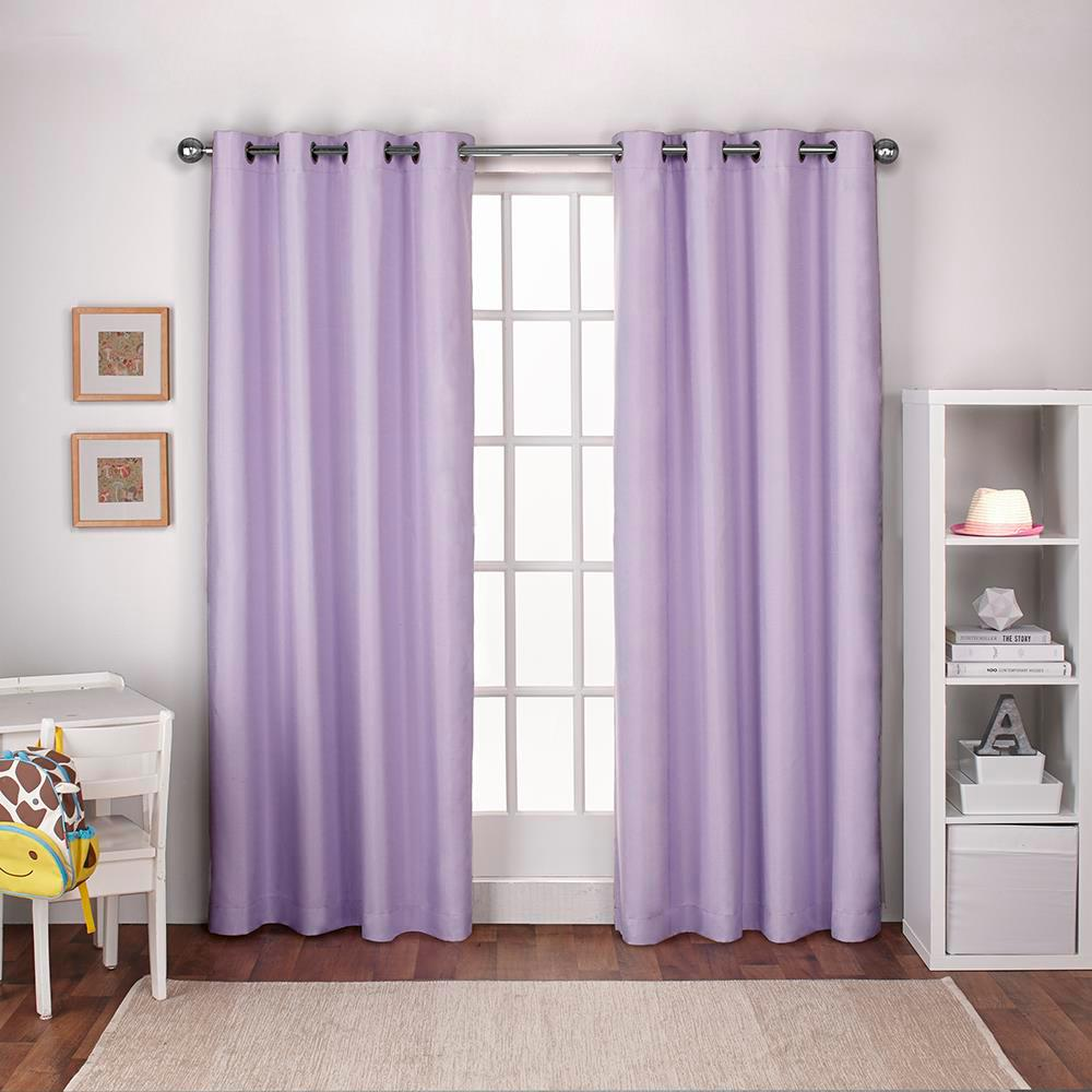 Internet #303957899. Textured Linen Lilac Purple Thermal Grommet Top Window  Curtain