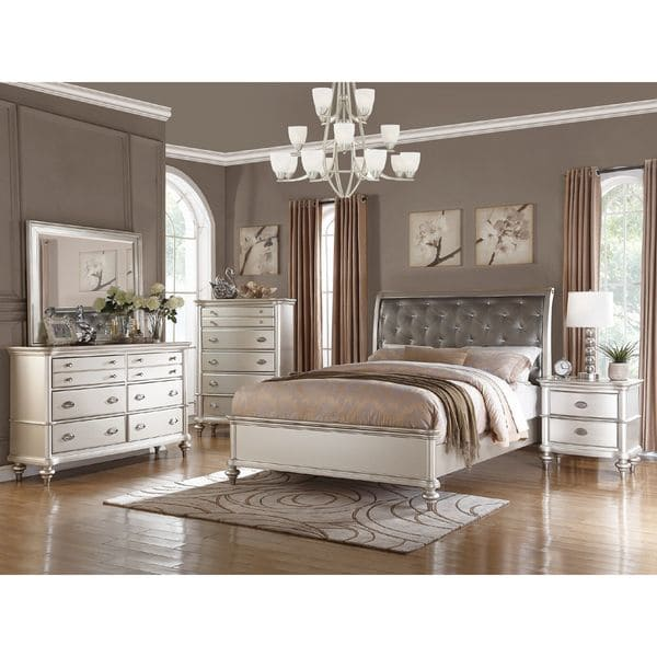 Shop Silver Orchid Boland 6-piece Silver Bedroom Furniture Set