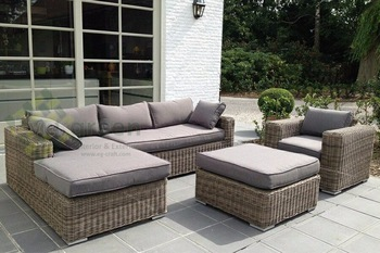 Evergreen Wicker Furniture - Sectional Sofa - Rattan Furniture - Patio  Outdoor Sofa Set