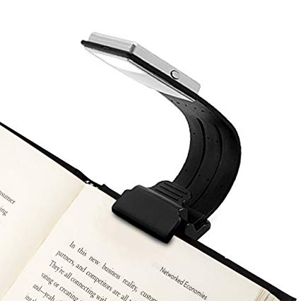 Clip On Book Light Reading Light USB Rechargeable Reading Lamp Eye Care  Double As Bookmark Flexible