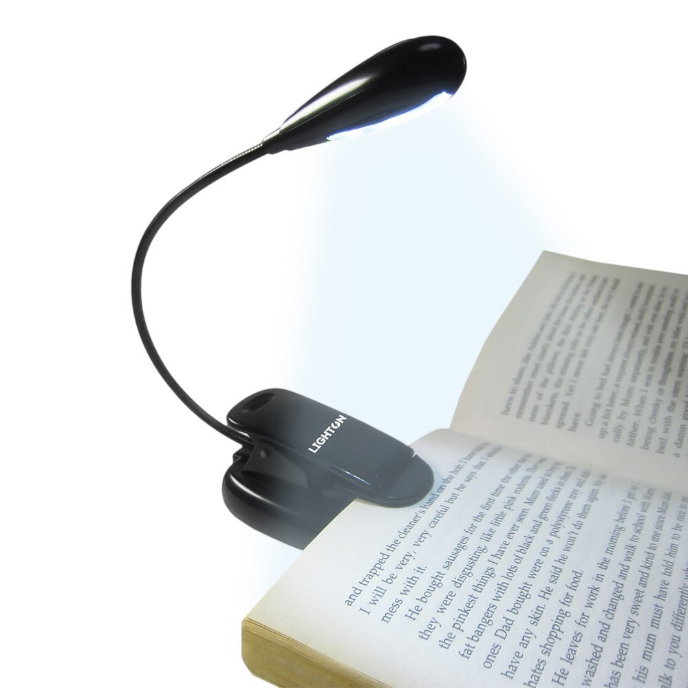 Rechargable Reading Light Table Lamp Bed Desk Clip on Book Adjustable Clamp