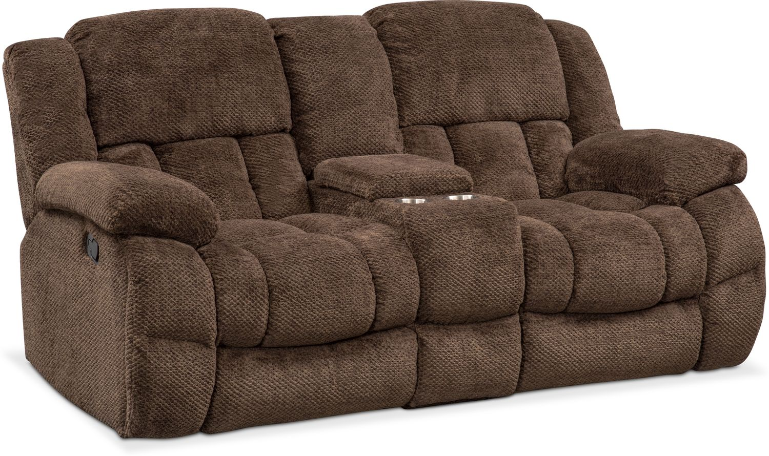 Living Room Furniture - Turbo Reclining Loveseat with Console